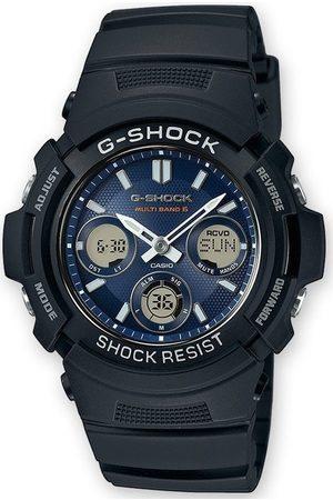 Casio Reloj analógico AWG-M100SB-2AER, Quartz, 46mm, 20ATM para hombre