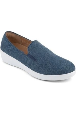 FitFlop Mocasines SUPERSKATE TM LOAFERS SHIMMER DENIM - BLUE para mujer