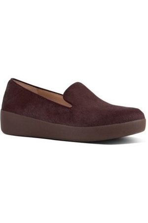 FitFlop Mocasines AUDREY FAUX PONY SMOKING SLIPPERS - BERRY para mujer