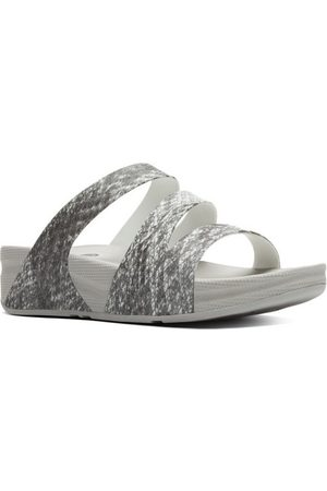 FitFlop Sandalias SUPERJELLY TM TWIST PRINT - BLACK/WHITE para mujer