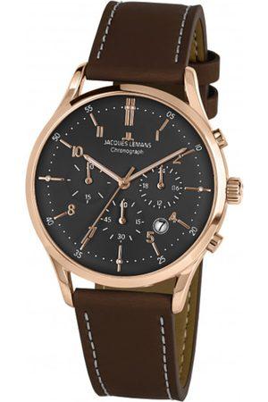 Jacques Lemans Reloj analógico 1-2068Q, Quartz, 41mm, 5ATM para hombre