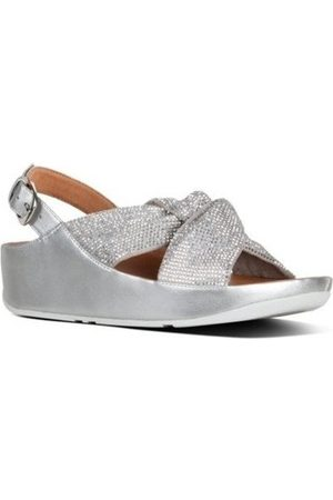 FitFlop Sandalias TWISS CRYSTAL BACK-STRAP SANDALS - SILVER para mujer