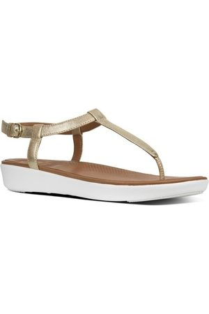 FitFlop Sandalias TIA TM TOE-THONG SANDALS LEATHER - PALE GOLD CO para mujer