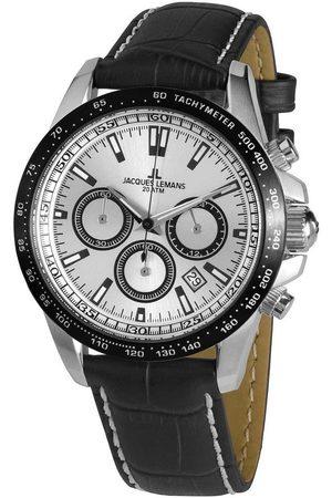 Jacques Lemans Reloj analógico 1-1836A, Quartz, 42mm, 20ATM para hombre