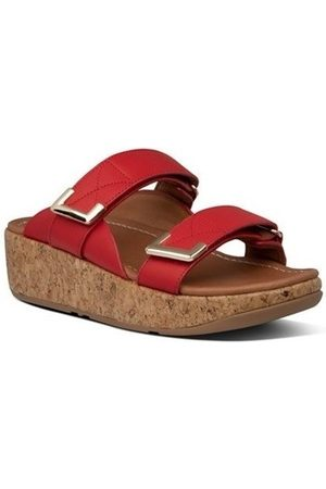 FitFlop Sandalias REMI ADJUSTABLE SLIDES - RED para mujer
