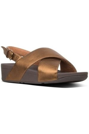 FitFlop Sandalias LULU LEATHER BACK-STRAP SANDALS - BRONZE CO para mujer