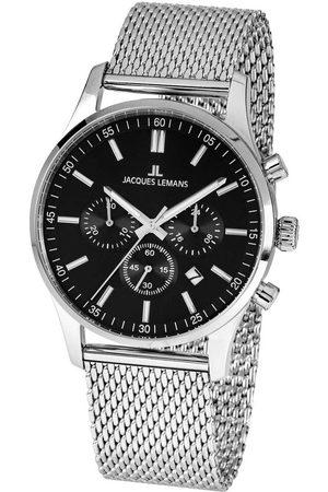 Jacques Lemans Reloj analógico 1-2025F, Quartz, 42mm, 10ATM para hombre