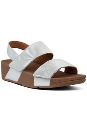 FitFlop Sandalias MINA IRIDESCENT BACK STRAP SANDALS - PEARL para mujer