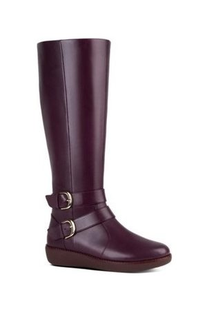 FitFlop Botines NOEMI DOUBLE BUCKLE - BERRY para mujer