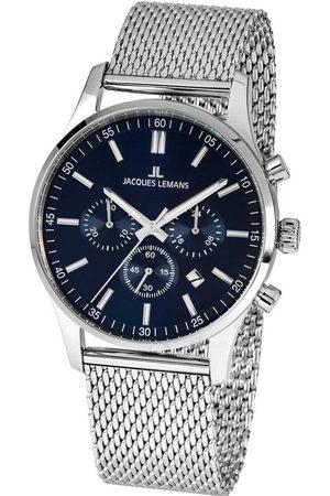 Jacques Lemans Reloj analógico 1-2025H, Quartz, 42mm, 10ATM para hombre