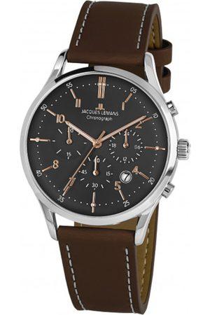 Jacques Lemans Reloj analógico 1-2068O, Quartz, 41mm, 5ATM para hombre