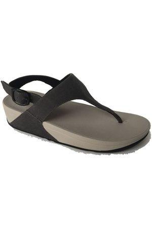 FitFlop Chanclas SKINNY TM TOE POST SANDAL CANVAS - BLACK para mujer
