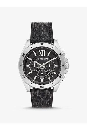 Michael Kors Hombre Relojes - MKReloj Brecken oversize en tono plateado con logotipo