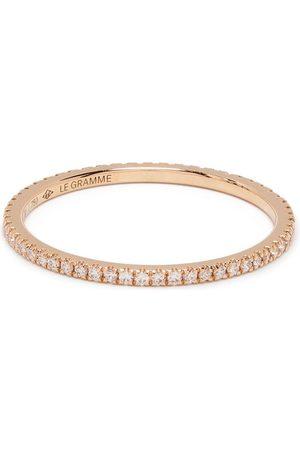 Le Gramme Anillo de 1g en oro de 18kt con diamantes en pavé