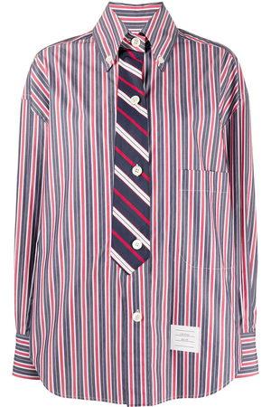 Thom Browne Camisa a rayas con efecto de corbata