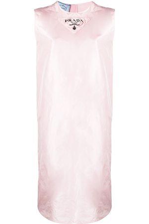 Prada Vestido ajustado con logo estampado