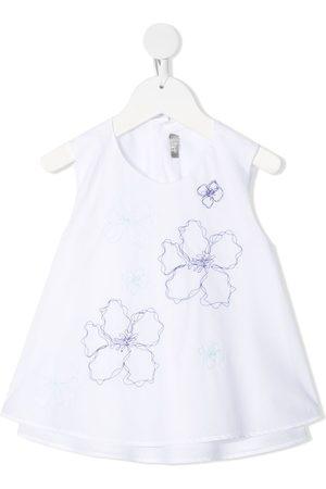 Il gufo Blusa con bordado floral
