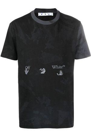 OFF-WHITE Hombre Sin mangas - Camiseta con motivo militar y logo