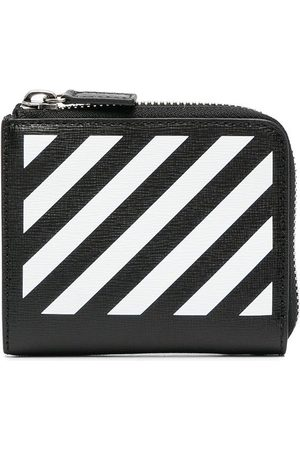 OFF-WHITE DIAG WALLET BLACK WHITE