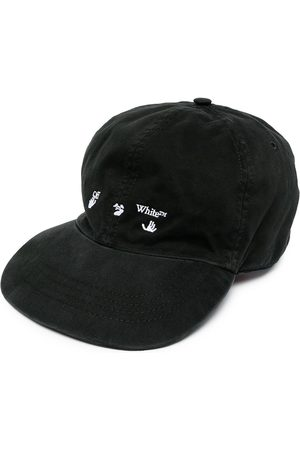 OFF-WHITE Hombre Gorras - OW LOGO BASEBALL CAP BLACK WHITE