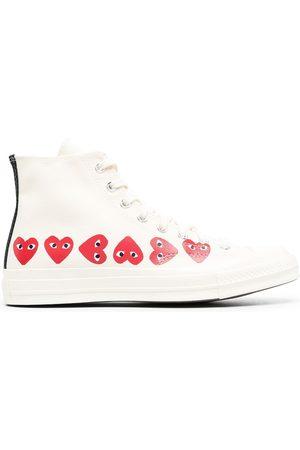 COMME DES GARÇONS PLAY X CONVERSE Zapatillas altas con motivo de corazones