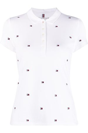 Tommy Hilfiger Mujer Polos - Logo-print short-sleeved polo shirt