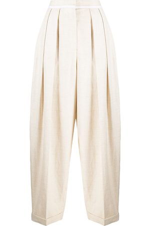 Stella McCartney Pantalones de talle alto anchos