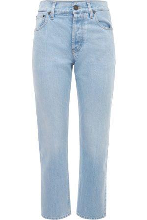 Saint Laurent | Mujer Jeans Pierna Recta De Denim De Algodón 24