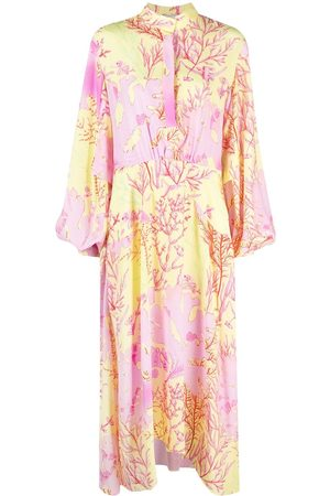 Stella McCartney Mujer Largos - Vestido largo con estampado de coral