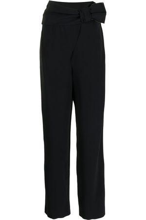 Emporio Armani Mujer Pantalones de talle alto - Pantalones de talle alto con detalle de lazo