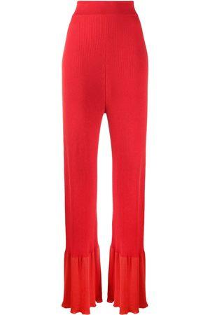 Stella McCartney Mujer Pantalones y Leggings - Pantalones de punto de canalé