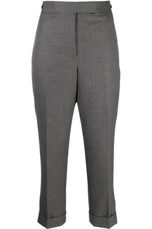 Thom Browne Mujer Pantalones de talle alto - Pantalones rectos de talle alto