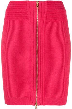 Balmain Mujer De tubo - Falda corta de punto de talle alto