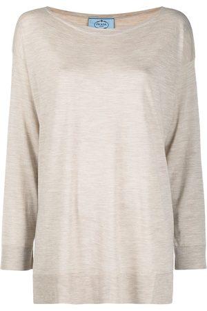 Prada Camiseta con efecto de melange