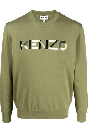 Kenzo Jersey de punto de intarsia con logo
