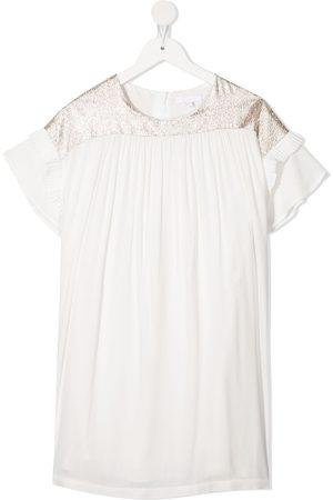 Chloé Vestido ajustado con paneles brocados