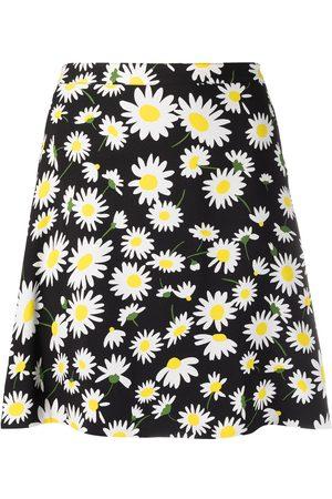 Saint Laurent Daisy print miniskirt