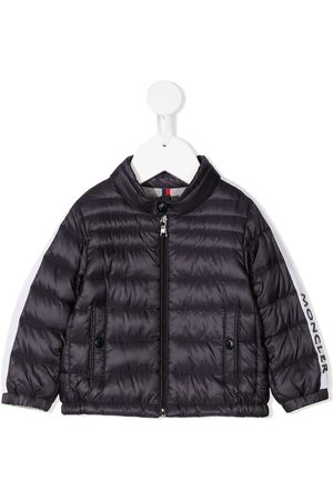Moncler Logo-sleeve feather-down padded jacket