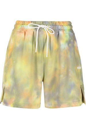 Msgm Pantalones cortos de deporte con motivo tie-dye