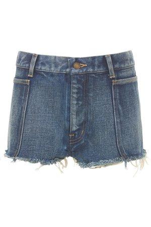 SAINT LAURENT | Mujer Shorts Mini De De Algodón 24