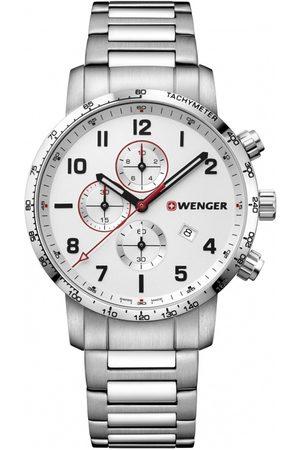 Wenger Reloj analógico 01.1543.110, Quartz, 44mm, 10ATM para hombre