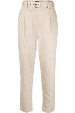 Brunello Cucinelli Pantalones de vestir con cinturón