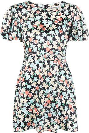 Saint Laurent Vestido con motivo floral