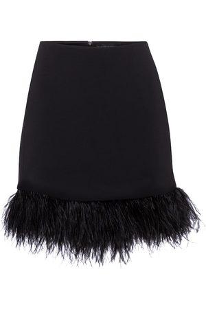 DAVID KOMA Exclusivo en Mytheresa – minifalda de cady con plumas