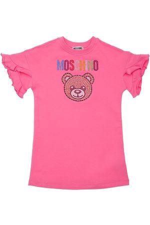 Moschino | Niña Vestido Sudadera De Algodón Con Lentejuelas 8a
