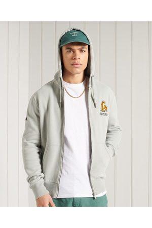 Superdry Sudadera con capucha y cremallera sin marca de estilo militar