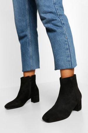 Boohoo Zapatos Estilo Botines Anchos Con Tacón Bajo Y Grueso