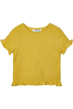 Mayoral Blusa Camiseta m/c nido de abeja para niña