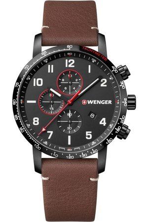 Wenger Reloj analógico 01.1543.107, Quartz, 44mm, 10ATM para hombre