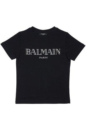 BALMAIN Niña Camisetas - | Niña Camiseta De Algodón Jersey Estampada 8a